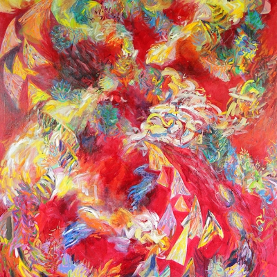 The Expulsion from Eden - Landscapes | oil on canvas | 5'x6' by Chris Harris, artist on Pender Island